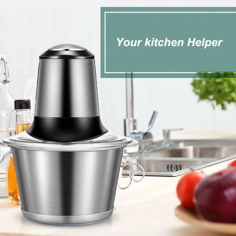 Electric Meat Grinder Stainless Steel Automatic Meat Cutter Multifunctional Kitchen Food Processor Meat Mincer Meat Slicer lucog multifunctional electrica meat grinder kitchen mincer food processor for meat spice slice juice smoothie maker ice crush