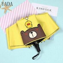 YADA Cartoon Bear Chicken Duck Folding Umbrella Rain uv High Quality For Women Children Kids Windproof Umbrellas YS430