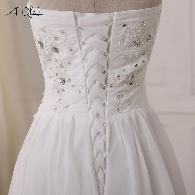 Cheap Plus Size Wedding Dresses Sweetheart Pleats Appliqued Beaded Chiffon Beach Bridal Gown Vestidos de Novia In Stock