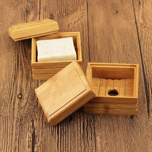 Ev ve Bahçe'ten Taşınabilir Sabun Yemekleri'de 50 adet/grup Doğal bambu sabun Bulaşık Ahşap sabun tepsisi Tutucu Depolama Sabun Raf Plakası kutu konteyner Banyo Duş için Plaka Banyo'da  Grup 1