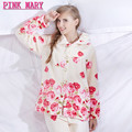 On Sale Plus Size Women Flannel Thich Fleece Pajamas Sets Winter Long Sleeve Pyjamas Feminino For Women Sleepwear Homewear