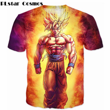 PLstar Cosmos 2018 Harajuku Style T-shirts Classic Anime Dragon Ball Z Super Saiyan 3D T Shirt Funny Gohan T-shirt Casual Tees
