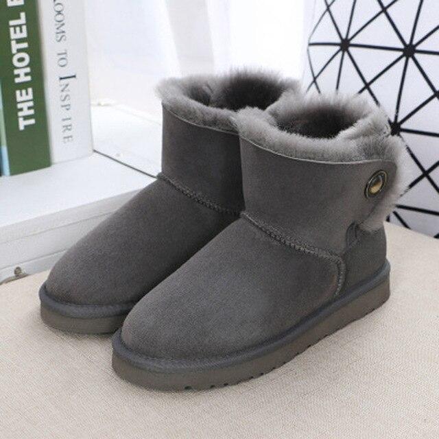 Подробнее о Hot Sale Fashion Waterproof Snow Boots High Quality Genuine Sheepskin Winter Boots Warm Natural Fur Women Boots Free Shipping genuine sheepskin leather snow boots hot sale women100