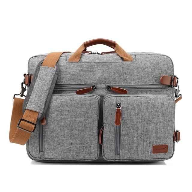 Gray Fatcool Handbag & Backpack For Laptop & MacBook  7