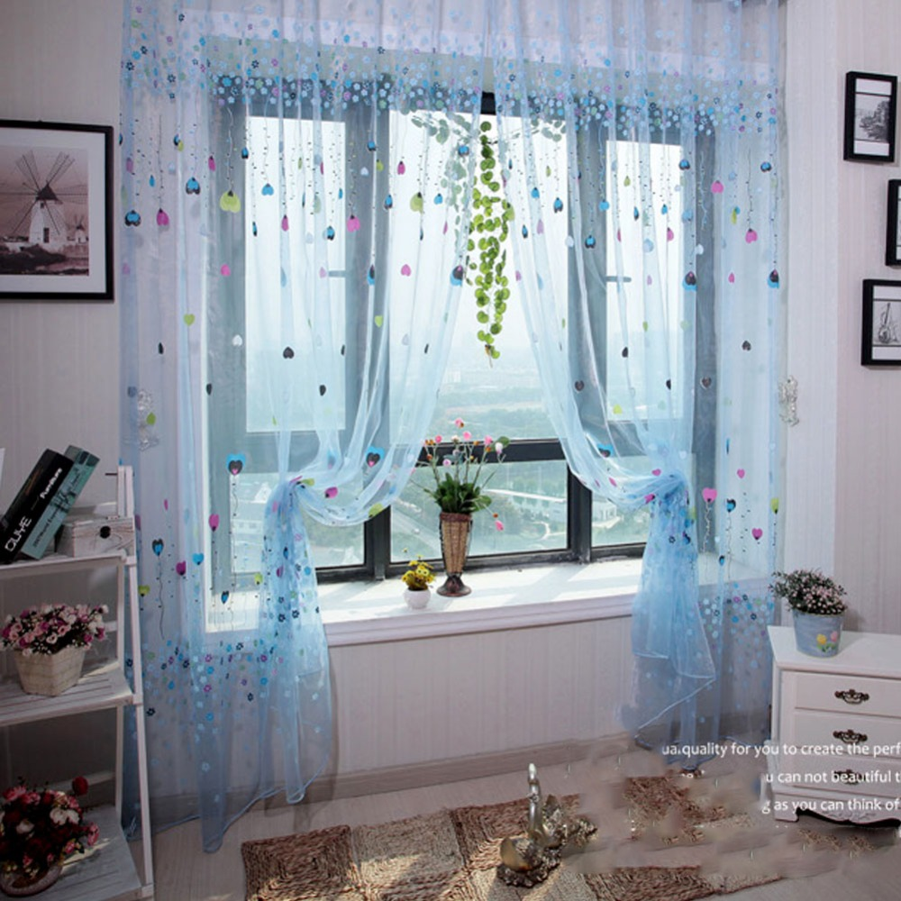 Pattern b font tulle voile window curtain drape panel sheer scarf font
