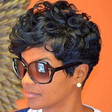 Short Curly Wigs For Black Women Natural Women's Wig High Quality African American Short Wigs Short Curly Hairstyles Black Wig