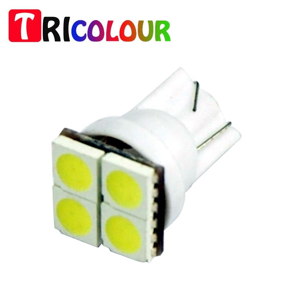 TRICOLOUR 10pcs T10 4SMD 5050 194 W5W Courtesy Glove Box Light Bulb for CHEVROLET Silverado 1500 2500 3500 HD #TB86