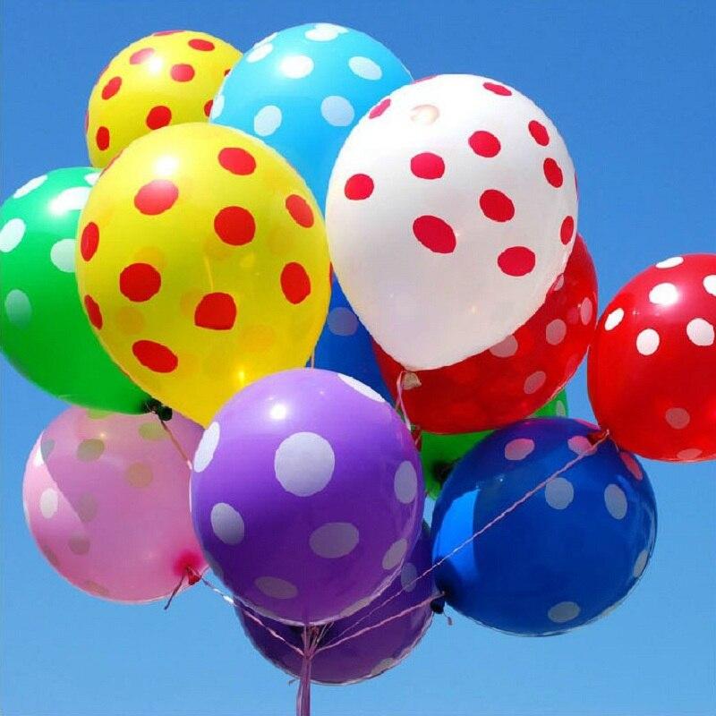 50pcs-lot-12inch-Latex-Inflatable-Balloons-Polka-Dot-Colored-Wedding-Birthday-Party-Balloons-Decoration-Globos-Air