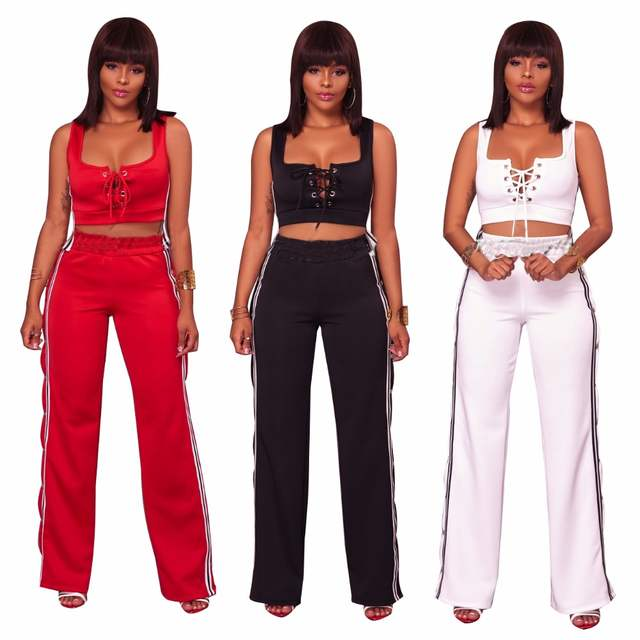 88aebf9802e 2019 Summer Fashion Women Sexy clothes Plus size two piece set crop top  Cropped Tops split