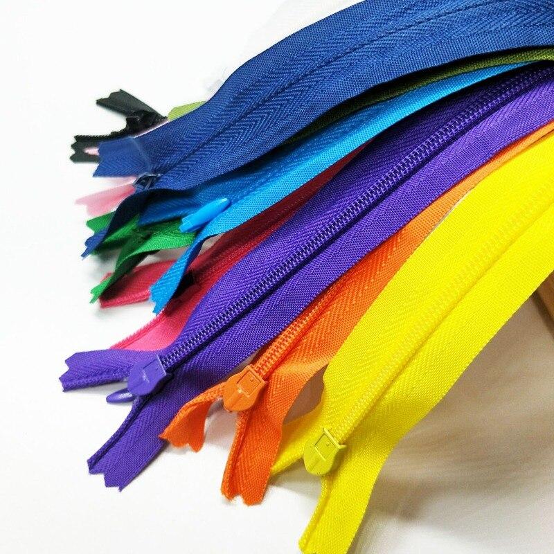 HL 11PCS 28CM Comprimento Colorido Invisível Close-End Nylon Zipper Sacos de Vestuário Acessórios de Costura Noções A159