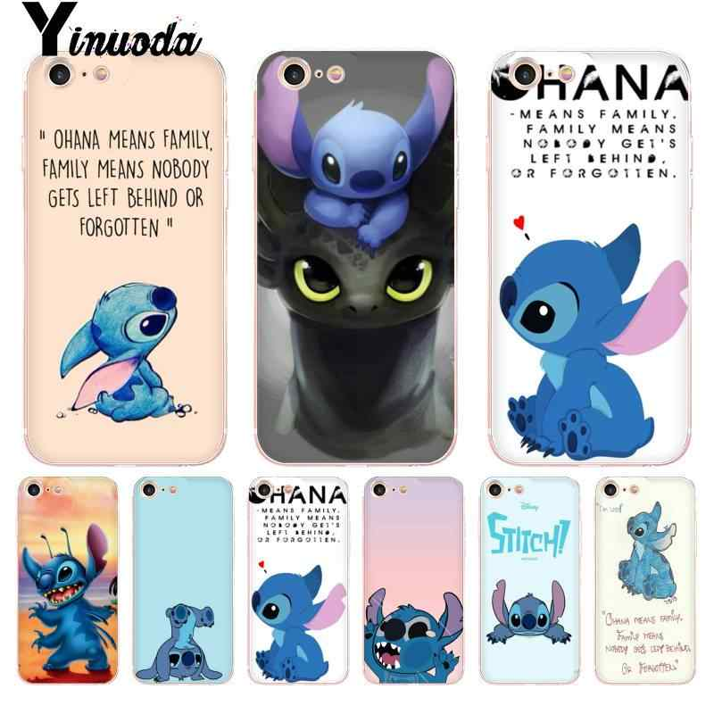 Yinuoda para iphone 7 6 x caso lilo ponto coque escudo caso do telefone para o iphone 8 7 6 s plus x 5 5S se xr xsmax