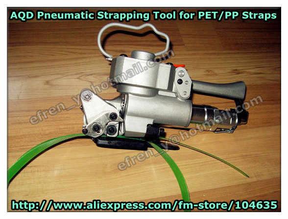 Скидка! AQD-25 ручной пневматический ПЭТ pp Пластик связывая инструмент, машина для обвязки для 19-25 мм полиэстер ремень (напряжение: 3500N)