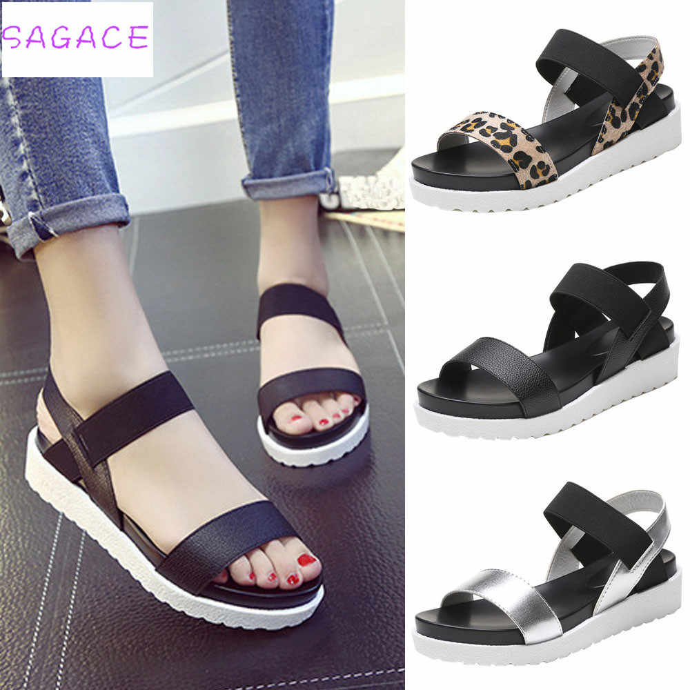 SADACE 2018 Hot New Fashion Light High Quality Women Summer Sandals Shoes Peep-toe Low Roman Shoes Girl Sandals Ladies FlipFlops
