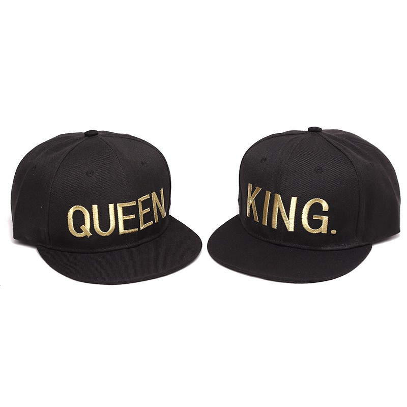 2016 New King Queen Lovers Embroidery Snapback Hatss