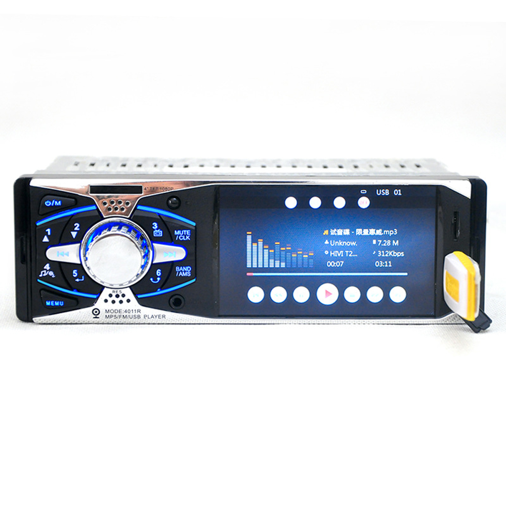 4.0'' inch TFT HD screen car radio USB SD AUX in 1080P video 1 din car audio stereo MP3/MP4/MP5 player support rear view camera