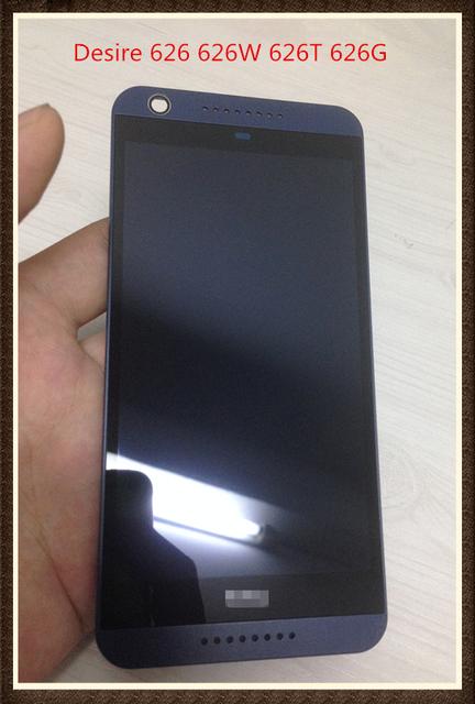 Original frete grátis para htc desire 626 626 w 626 t 626g dual sim full display lcd & touch screen assembly com frame ~ azul