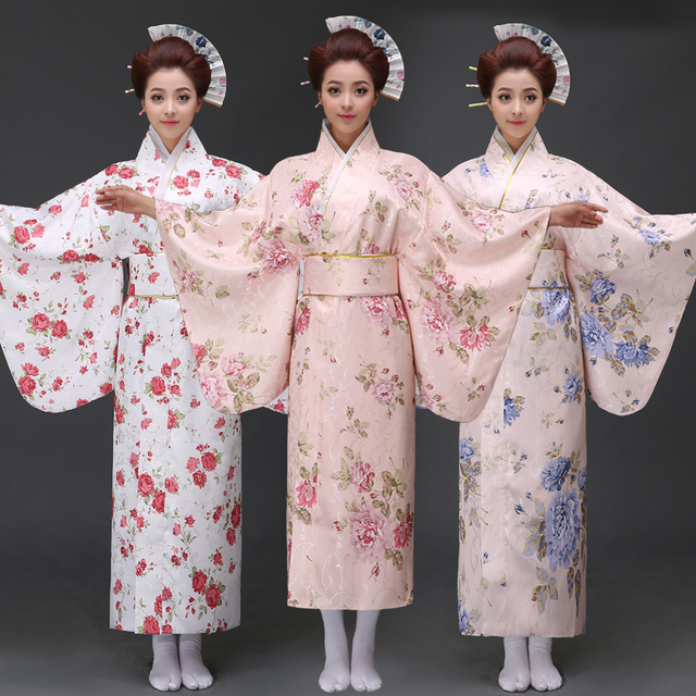 Extrêmement 2017 hiver traditionnel japonais vêtements femmes yukata kimono  GC88