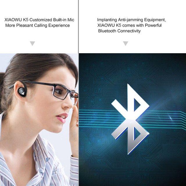 Original XIAOWU k5 K2 mini Headset wireless bluetooth earphone Binaural earbud with Mic Charging Box for iphone 8 /android phone