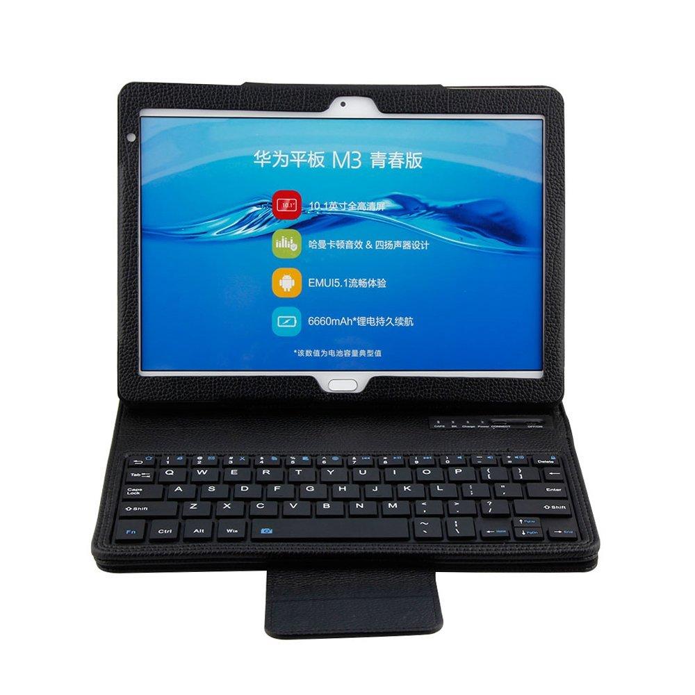 Keyboard Case For Huawei Mediapad M3 Lite 10 BAH-W09 BAH-AL00 Detachable Bluetooth Keyboard Case PU Leather Case Funda Capa Case cover case for huawei mediapad m3 youth lite 8 cpn w09 cpn al00 8 tablet protective cover skin free stylus free film