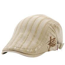 Viseira das mulheres Homens Primavera Outono Listrado Hera Tampão Repicado  Chapéus Bordados de Algodão Estilo Britânico 7083a834f04