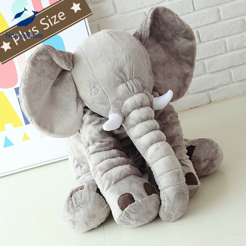 NarwalDate Ins Cute Elephant Hug Cushion Plus Size For Baby Infant Kids Sleep Mate Plush Toy Pregancy U Shape Pillow Child Gift