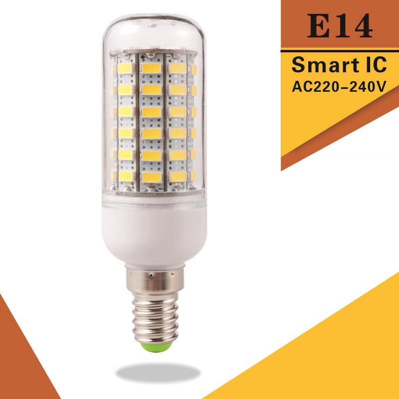 Super Bright E14 LED Bulb Light Replace CFL 5W 12W 15W 20W 25W 30W 220V 240V Spotlight 5730SMD 24 36 48 56 69 72 LEDs Lamp