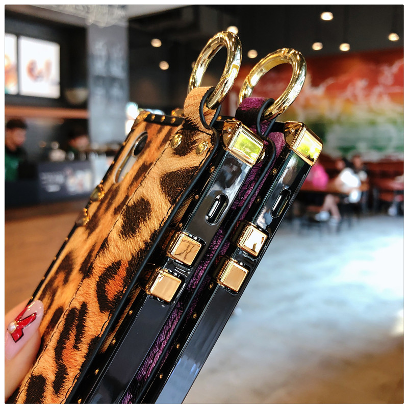Luxury brand Square Leopard print rose flower case for iphone 7 8 6 6s plus girl women phone case for iphone X XS Max Xr cover (10)