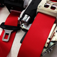 100 meters Wholesale Car Seat Belt Harness Racing Safety Seat Belt Modified Universal Accessories For Bmw 5 Color Webbing Ribbon