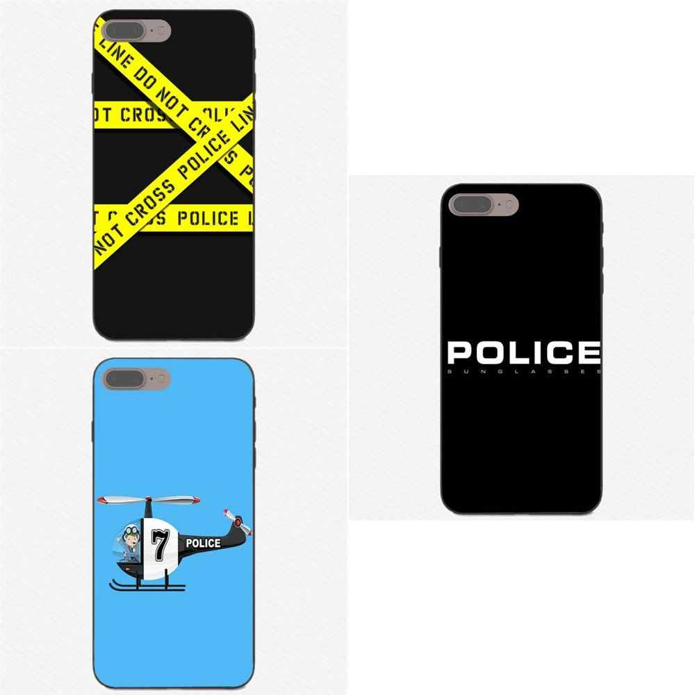 Aksesoris Case Polisi Simbol untuk Apple Iphone X XS Max XR 4 4 S 5 5 S SE 6 6 S 7 7 Plus