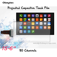 Obeytec 15.6 Transparent Interactive Touch Foil ,10 touches, Flexible, Clear, Support 3 12 mm thickness Tempered Glass Cover