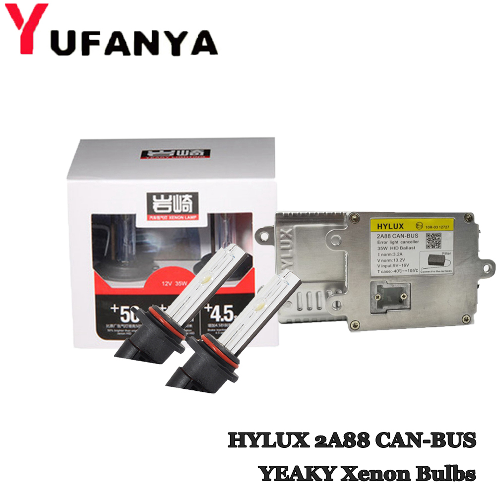 35W HID Xenon Kit Canbus Ballast For Hylux 2A88 with HID Xenon Bulb for YEAKY H1 H3 H7 H11 9005 9006 D2H 4500k 6000k retrofit