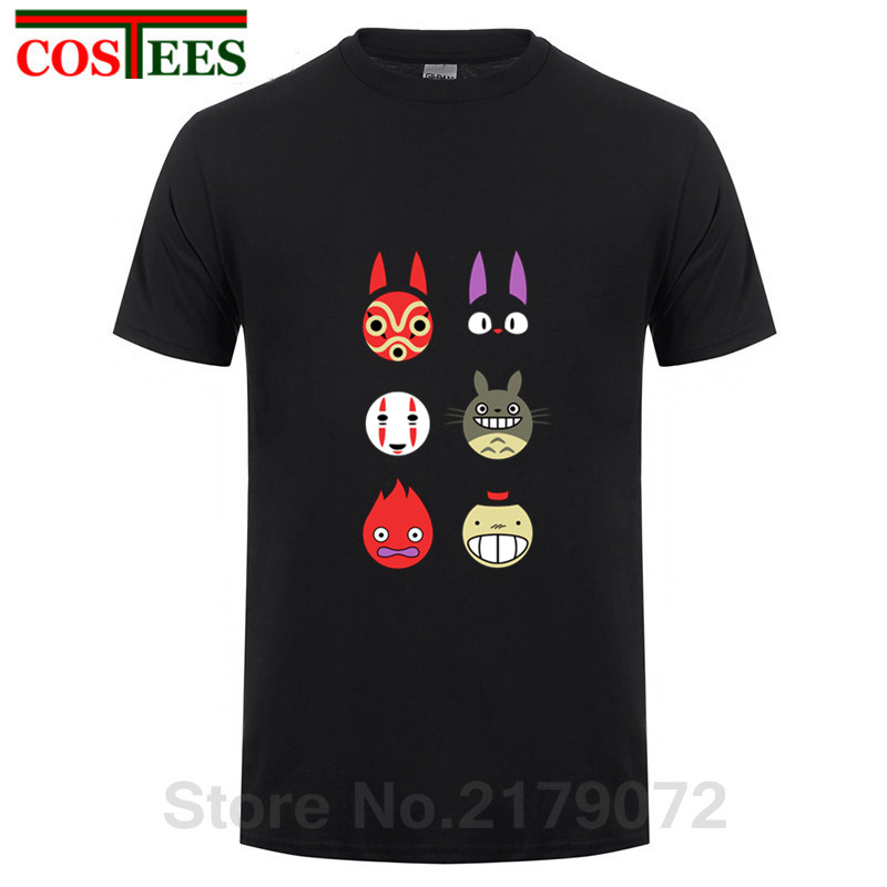 2018 New Japanese style Mononoke Neighbour Totoro Spirited Away   T     Shirt   men Leisure   T  -  shirt   Cartoon brand Clothing camiseta Tees