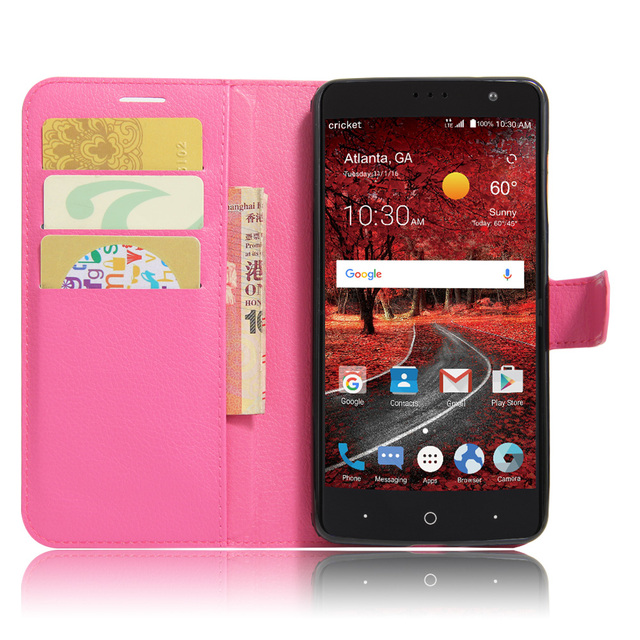 Wallet Stand Style Fashion Litchi Texture Flip Leather Cover Case for ZTE Grand X4 Z956 5.5 inch Magnetic Protective Shell