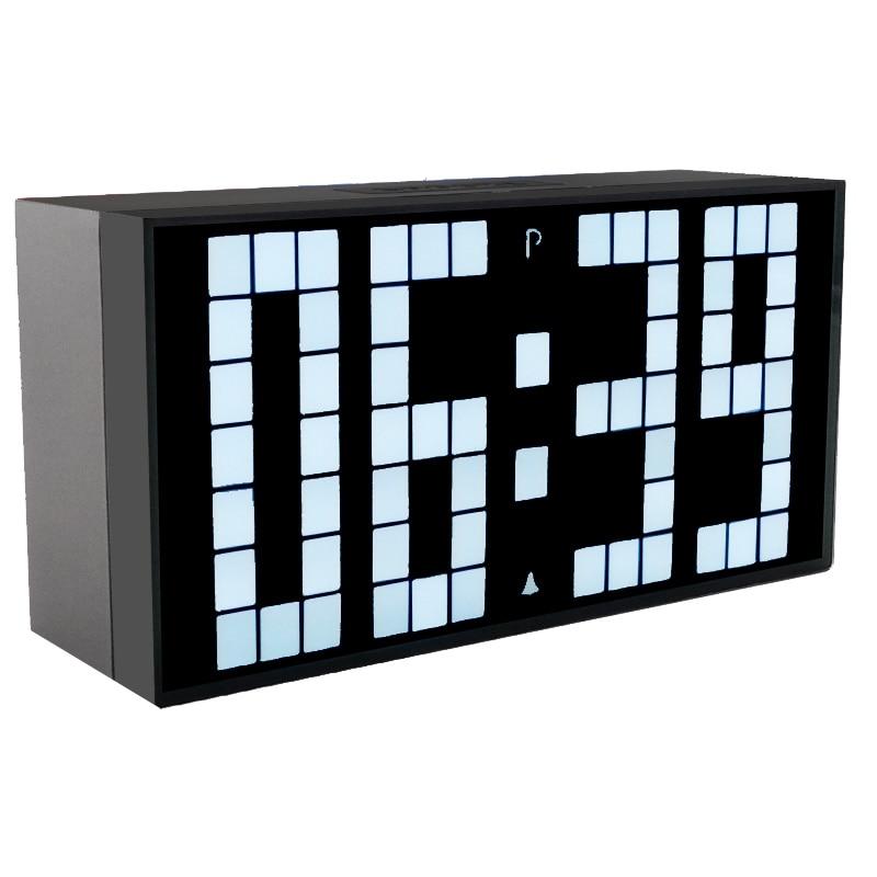 Kosda Budík Digitální LED časový displej Ranní budík Budíky FM Rádio Odložte noční světlo Desktop vedle lampy