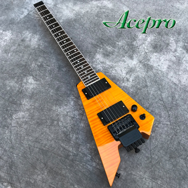 New Style Headless Electric Guitar w/ Tremolo Bridge