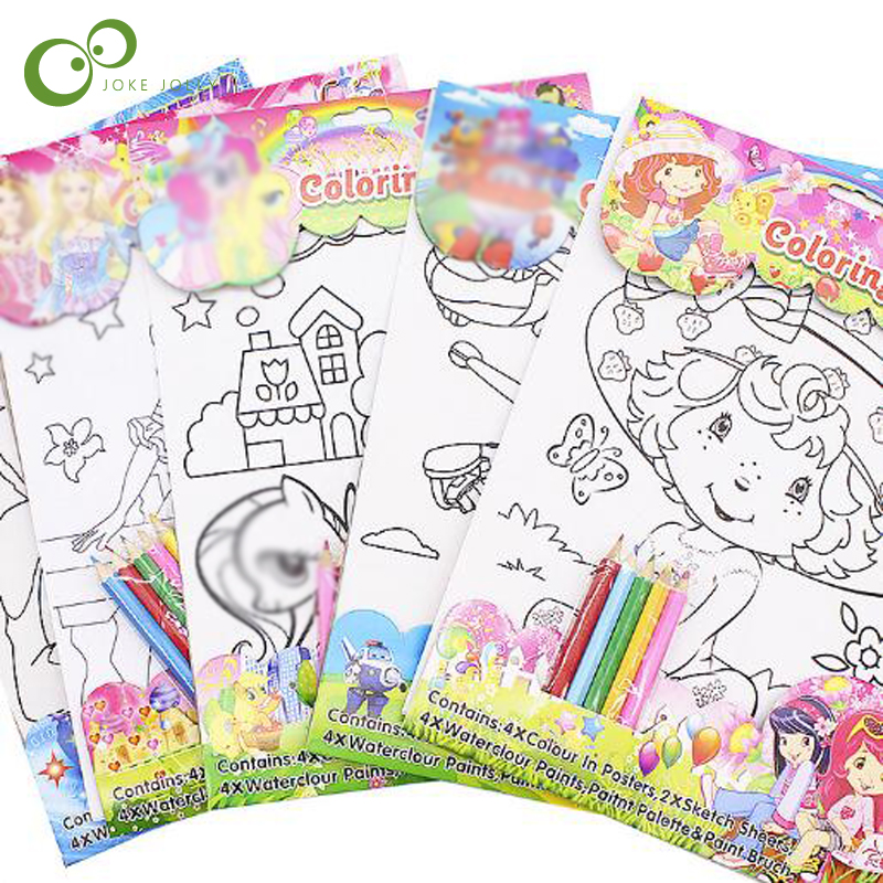 1 Coloring Book Toys For Children Kids Adults Coloring Books Painting Drawing Art With 5pcs Coloured Pencils Christmas Gift Gyh In Pain