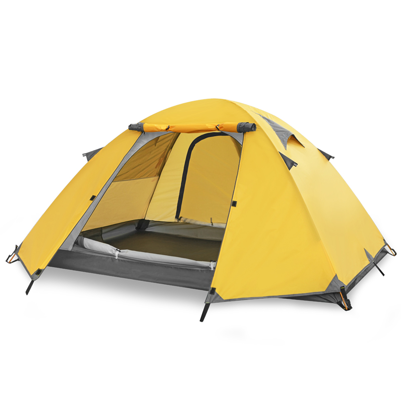2 Color Double-Layer Camping Tent 2-3 People Outdoor Camping Ultra Light Tent2 Color Double-Layer Camping Tent 2-3 People Outdoor Camping Ultra Light Tent
