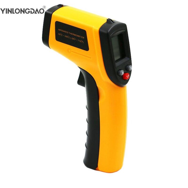 GM320 láser Digital LCD termómetros infrarrojos medidor de temperatura arma Punto-50 ~ 380 grados no contacto termómetro casa herramientas