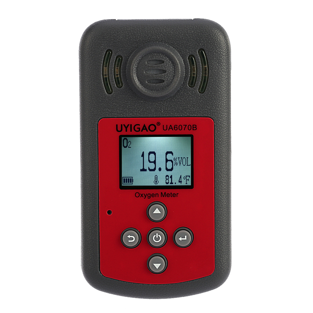 Handheld Oxygen Meter Automotive Mini Oxygen Meter O2 Gas Tester Monitor Detector with LCD Display Sound