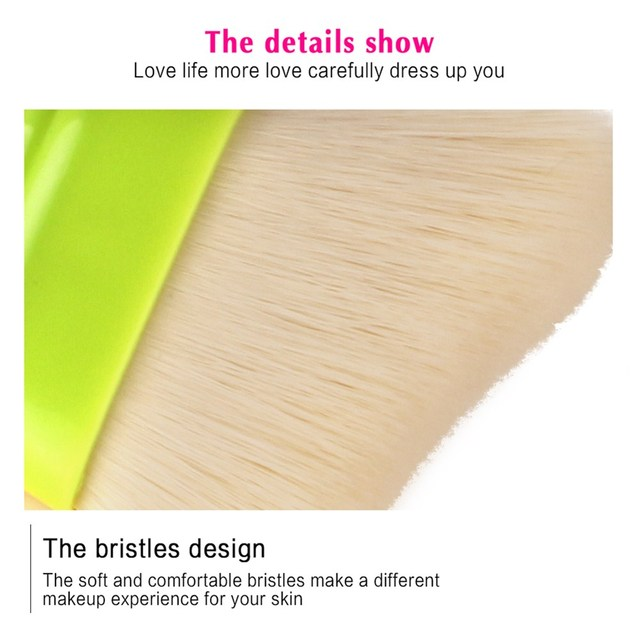 MAANGE 1Pcs Flat Top Foundation Makeup Brush Power Contour BB Cream Blending Face Cosmetic Make Up Brushes Beauty Tool Maquiagem