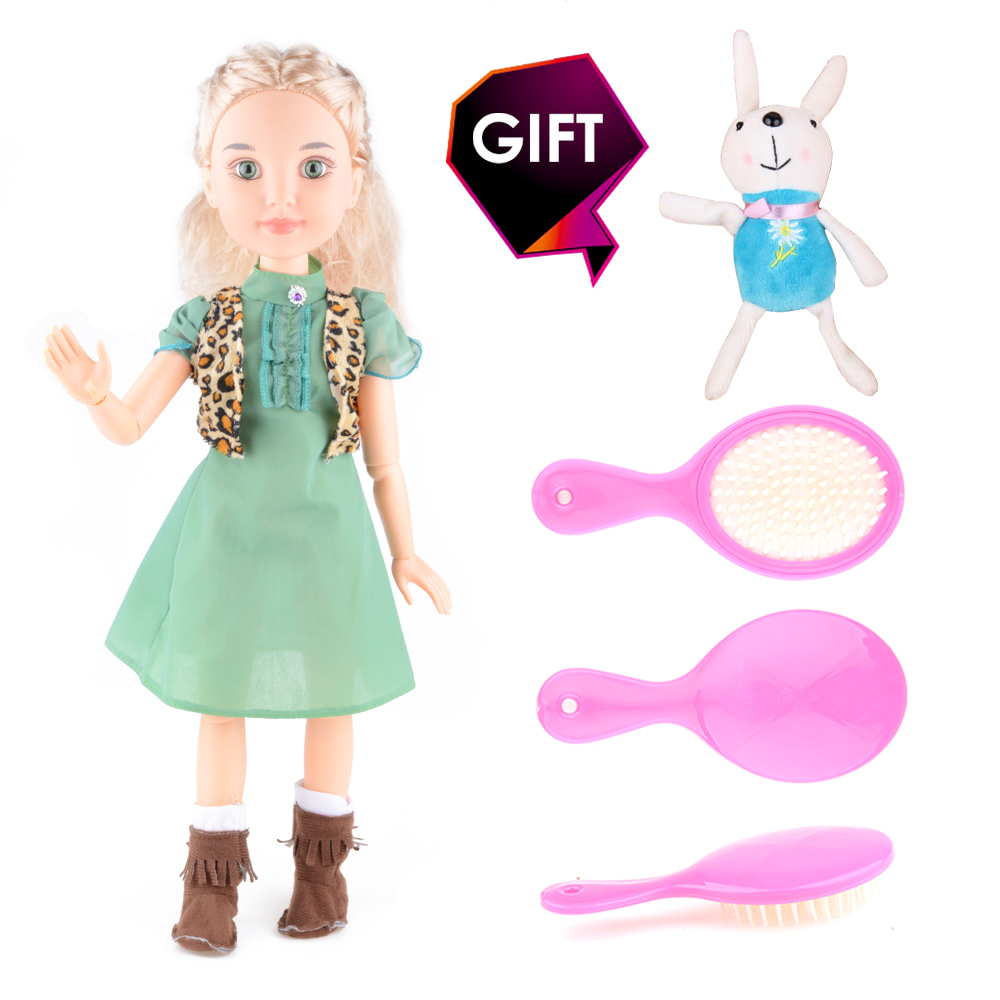 Sweet Dolls 18 45cm Princess Girl Doll 14 Joint Moving Body Realistic Toys Birthday Gift As American Girl Gifts DIY 18 american girl dolls princess dolls toys for girls children birthday gift 45cm girls doll with clothes and headdress