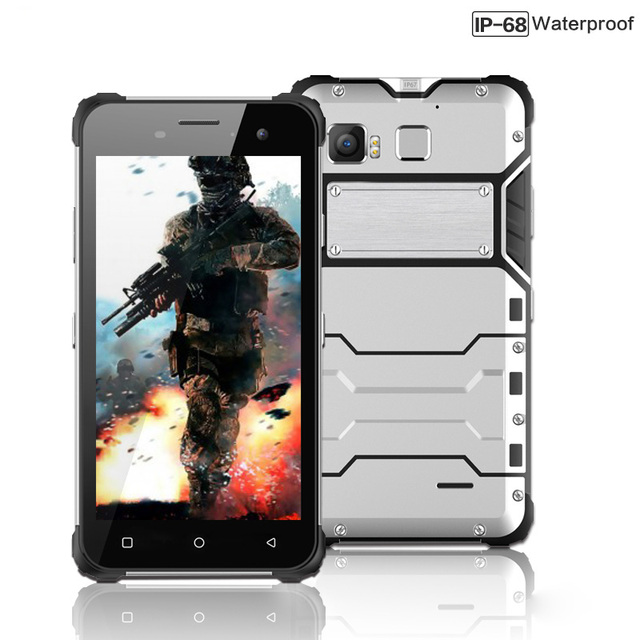 2016 Ip68 Teléfono Resistente de Metal delgado Octa Core Android 6.0 A Prueba de agua D6 4G LTE Smartphone Dual Sim 4G RAM 64G ROM 13MP huella digital
