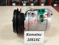 Automotive air conditioning compressor for Komatsu 7, for Komatsu 6,10S15C 10PA15C compressor Komatsu