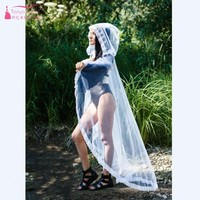 Costom White or Black or Red or Peach or Baby Pink Tulle hooded Cape Lace Cape Wedding Cape hooded cloak JQ573