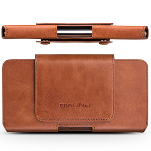 Image 2 - QIALINO mode affaires Style téléphone sac couverture pour Apple pour iPhone X luxe en cuir véritable Simple étui pour iPhone 5.8