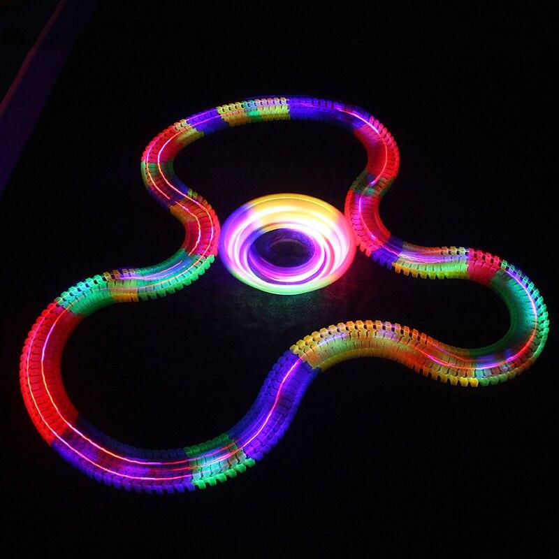 Glowing-Race-Car-Twister-Track-DIY-LED-Flashing-Light-Tracking-Rail-Glow-in-the-Dark-Flexible-Railway-for-Mini-Cars-Kids-1
