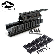 купить Tactical AK47 Quad Rail Mount Universal Quad Said Rails Handguard Rail w 12pcs Rail Covers for AK47 74 AKs Hunting Shooting дешево