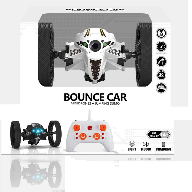 2016 Hot SUMO Bounce RC Cars CK-14 2.4G 4CH Jumping Robot RC Toys For Kids Chrismas Gift