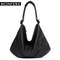 MONFERE Soft Real Genuine Leather Women S Handbag Ladies Shoulder Bags Purse Hobo Black Brown Female