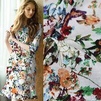 European And American High End Custom Thin Linen Shirt Dress Printed Skirts Handmade Cloth Fabric Cloth
